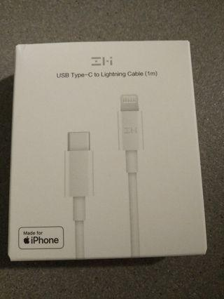USB Type-C to Lightning Cable (1m)