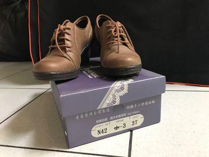 AppleNana經典牛津真皮氣墊裸靴