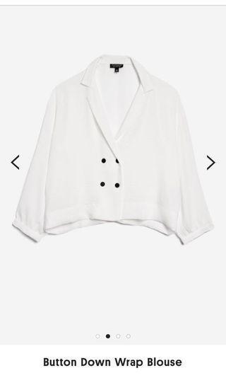 🚚 Topshop button down wrap blouse #MRTRaffles
