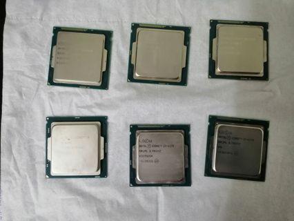 Processor @ cpu intel i5 & i3