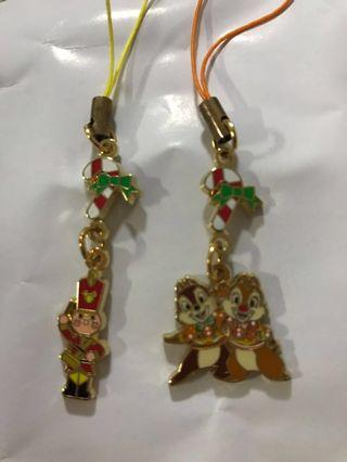Disneyland Toy soldier and chip and dale  phone chain Merry Christmas