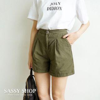 🚚 【全新】SASSY SHOP|後鬆緊反摺短褲|原包裝袋