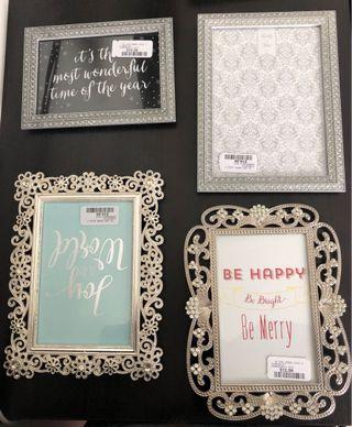Set of Four Picture Frames (New)