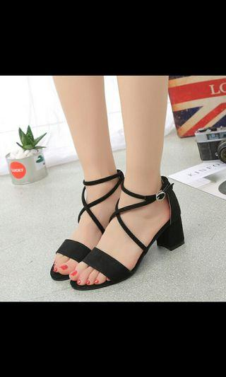 (NO INSTOCKS!)Preorder korean Open toe cross over sandals shoes* waiting time 15 days after payment is made*chat to buy to order