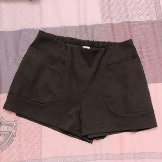 🚚 西裝短褲-黑色