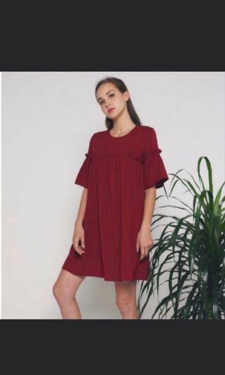 🚚 Hollyhoque Fawn Ruche Dress