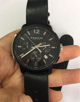 Coach watch real leather 真牛皮錶帶手錶