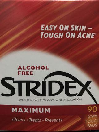 Stridex maximum alcohol free 90 pads