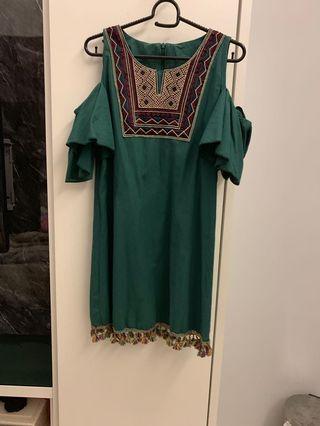 Bohemia Open Shoulder Dress