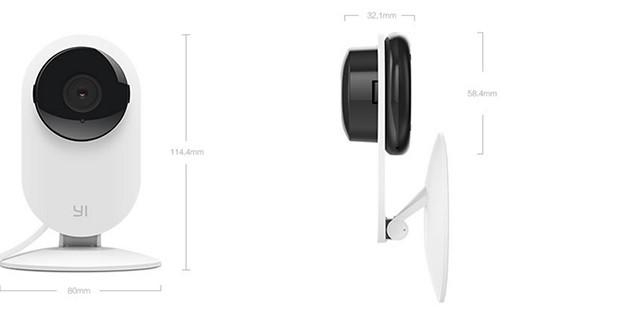YI Home Camera  Connect to your home anytime, anywhere  720p HD   111° Wide-angle Lens   Two-Way Audio   Activity Alerts