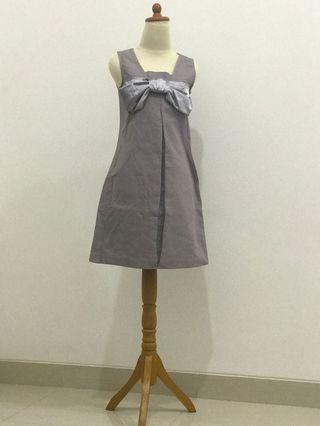 Silver Bow Dress