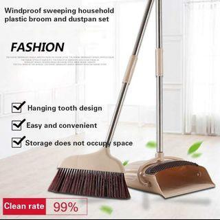 🚚 Ocean New Rotating Broom Dustpan combination household Cleaning Soft(Light green) - intl