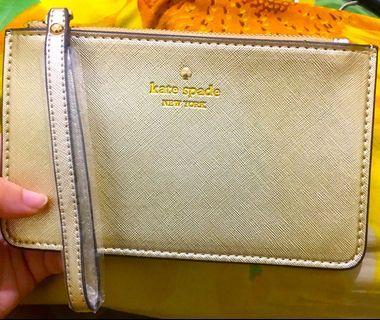 KS Gold Wristlet#katespade#wallet#pouch#SociollaCarousell