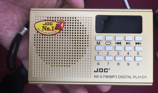 Radio Mp3 player model JOC model terbaru lengkap sekali dengan lebih 500 mp3 koleksi agama, bacaan Alquran berserta bacaan terjemahan melayu, Doa, ceramah, Nasyid, selawat dll  Borong  RM45 x 01 unit + pos/cod KL RM5 RM40