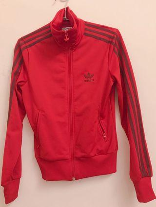 愛迪達 紅色外套