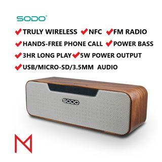 [2 UNITS LEFT!] SODO L4 LIFE Extra Bass Bluetooth Truly Wireless Speakers with NFC FM Radio Stereo Pairing