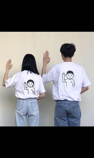 女孩印花t恤