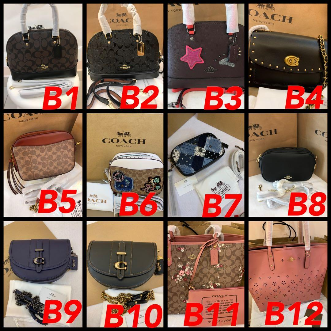(29/05/19)Authentic Ready Stock coach women bag Tory Burch wallet backpack sling bag ready stock coach shoulder bag Tory Burch Kate spade