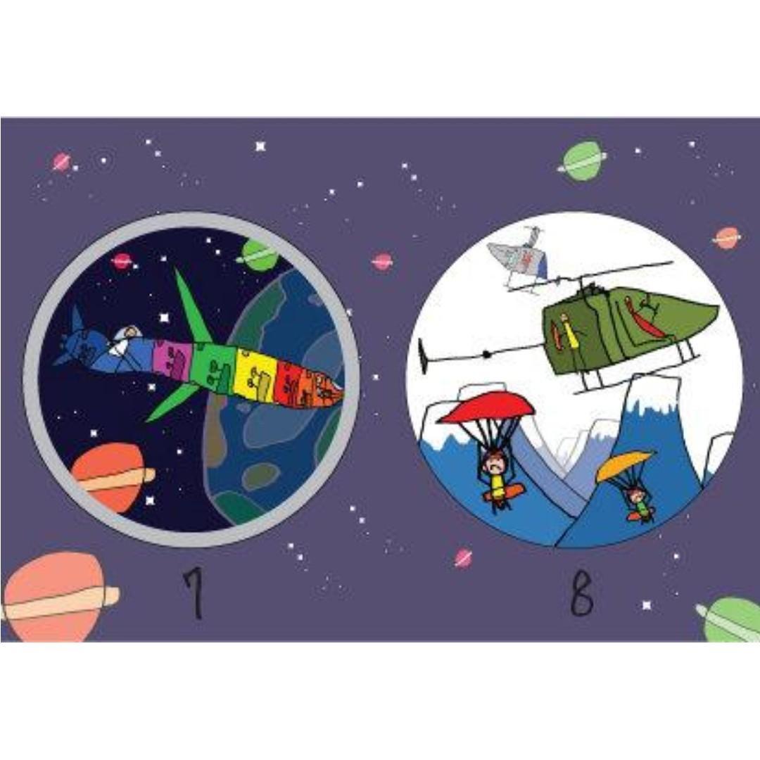 【全新獨一無二】可愛小畫家繪本磁鐵(星際系列)--特價30元