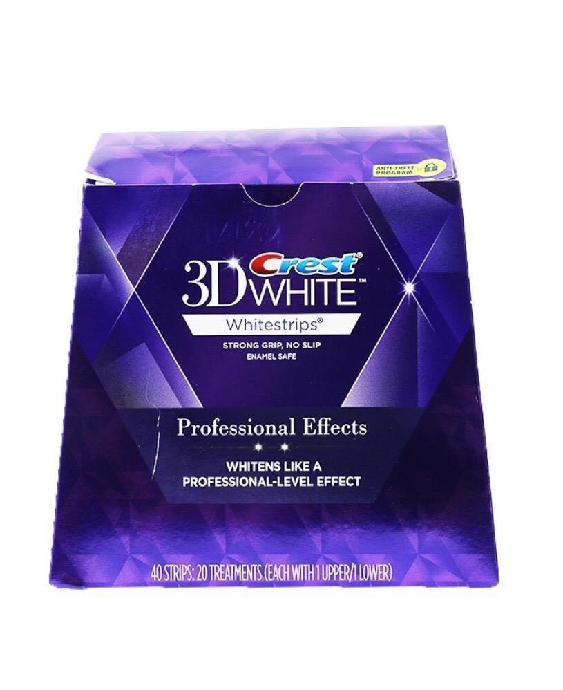 (送3支牙膏)Crest 3D White 美白牙貼