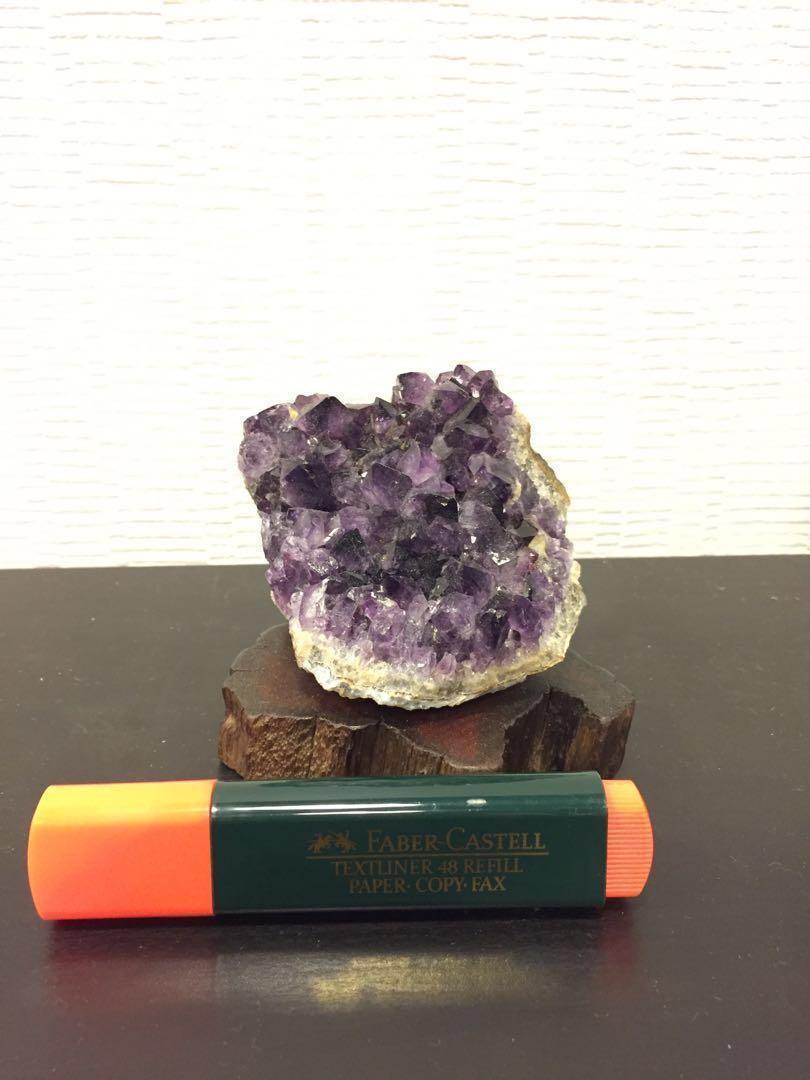 烏拉圭紫晶簇 連木座 風水擺設 #2019BetterLife