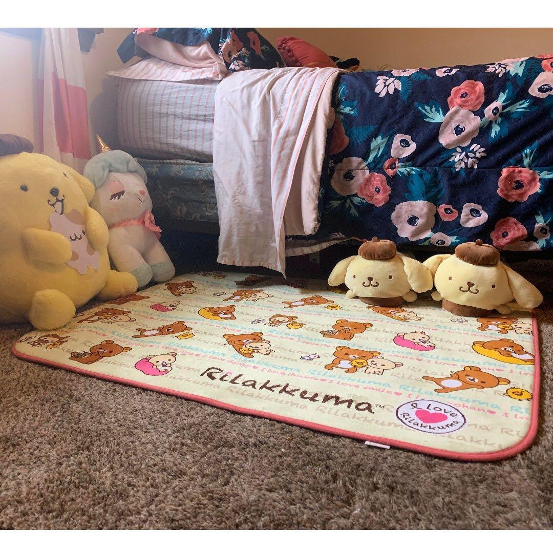 鬆弛熊 地氈 地毯 I love Rilakkuma Room Mat 日本 景品