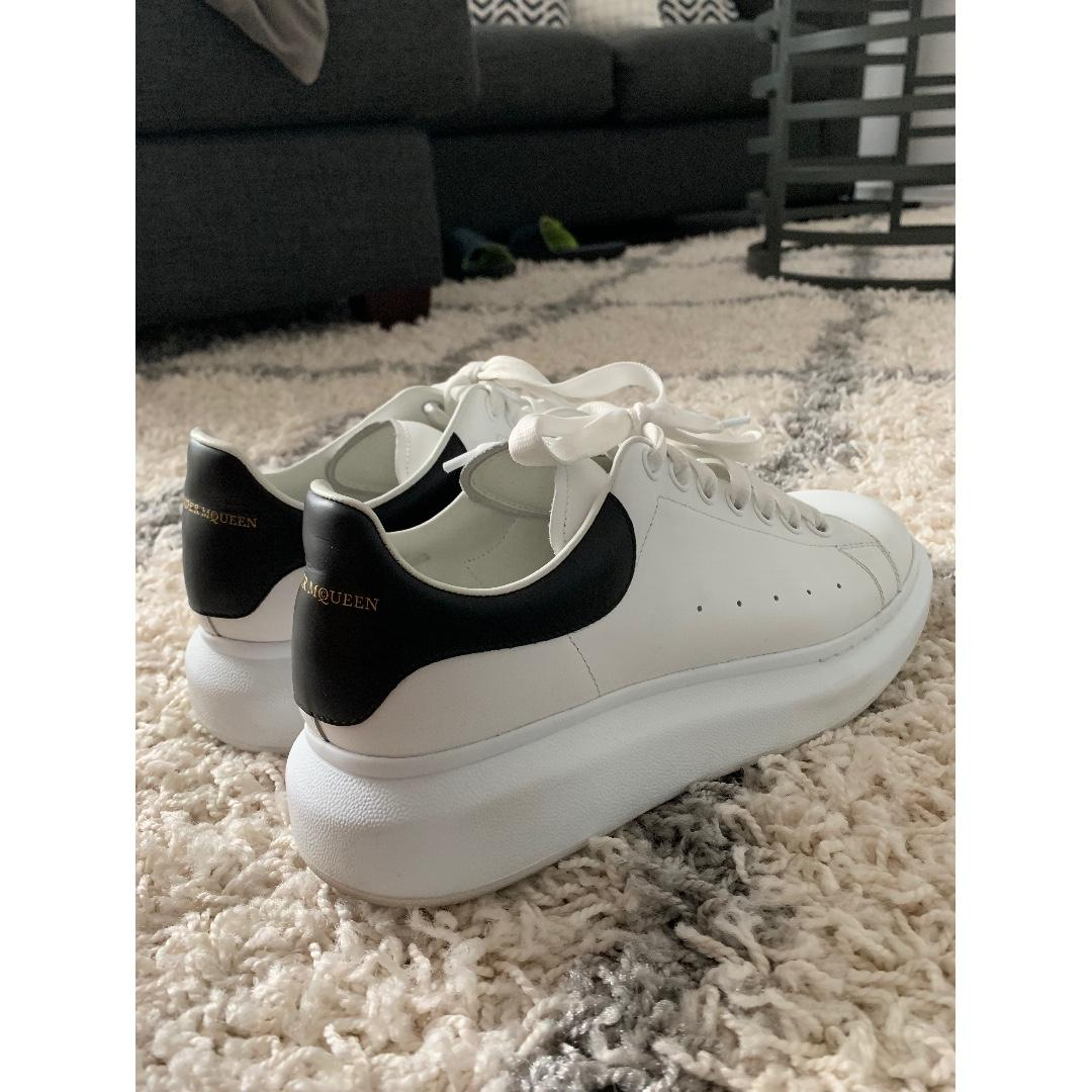 Alexander McQueen White & Black Oversized Sneakers (Size 41)