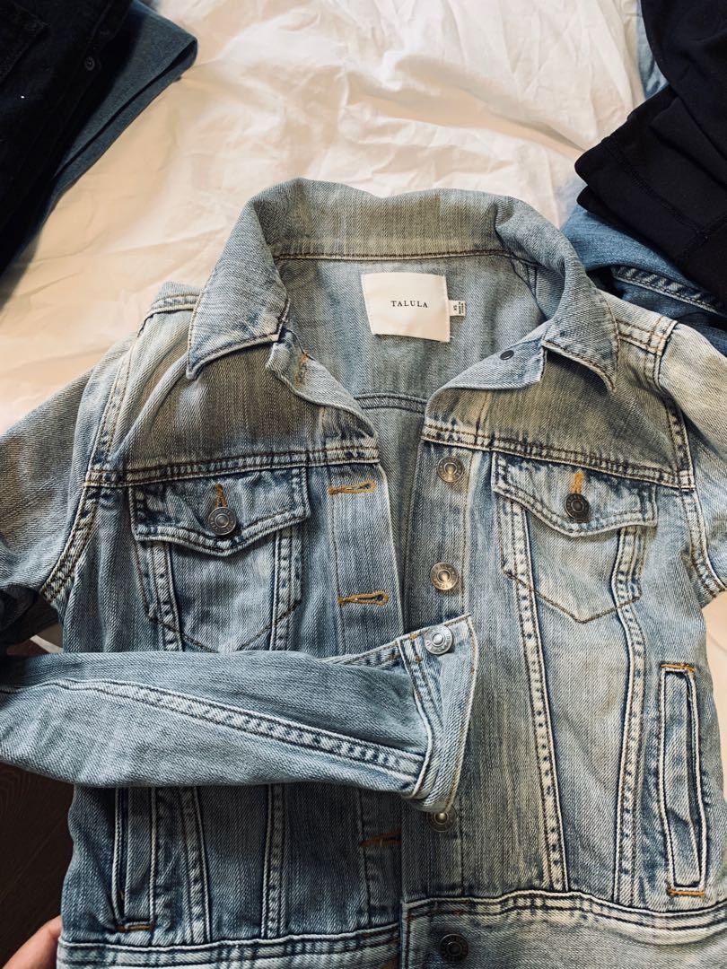 Aritzia/talula light denim jacket