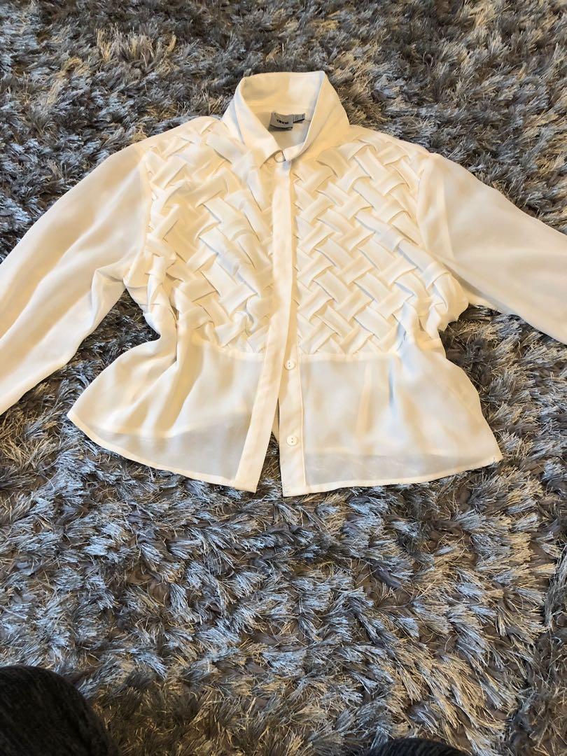 ASOS white top. Size medium