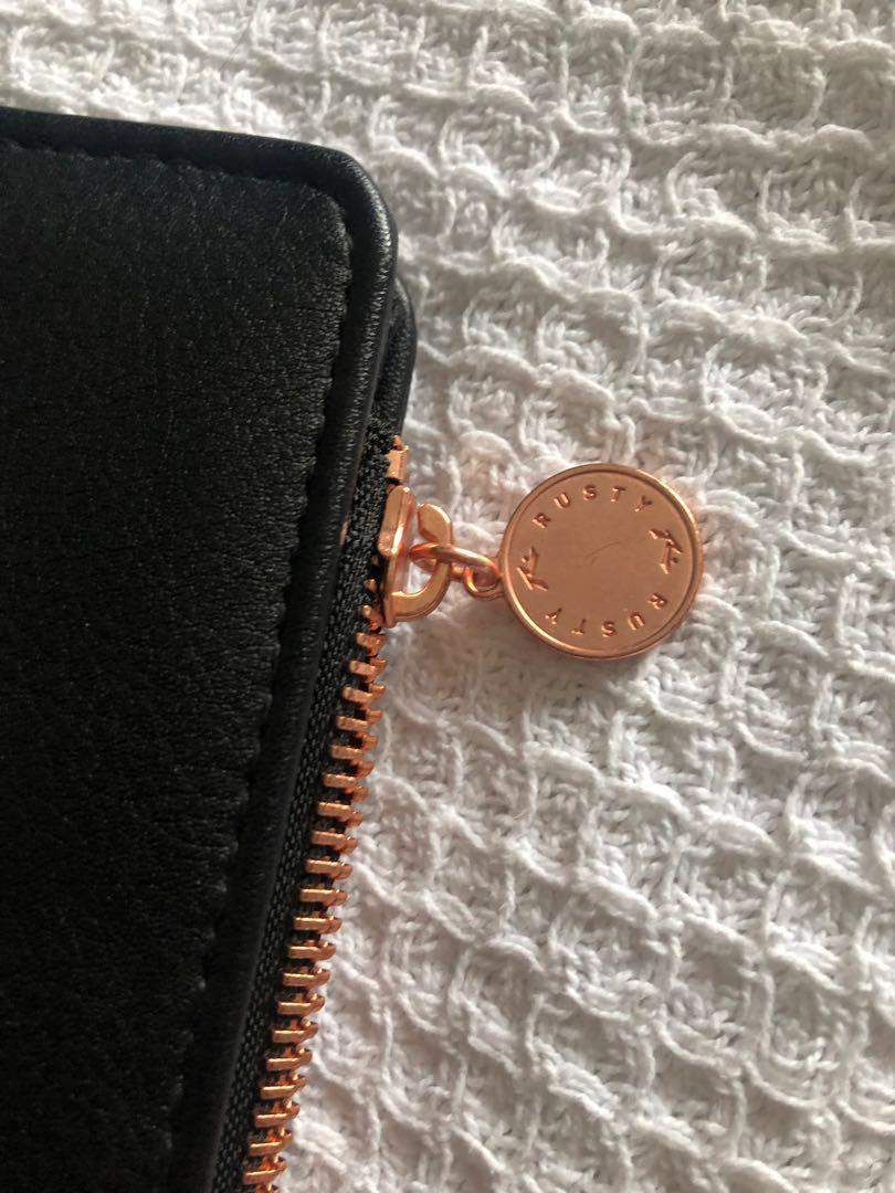 Black & rose gold Rusty wallet