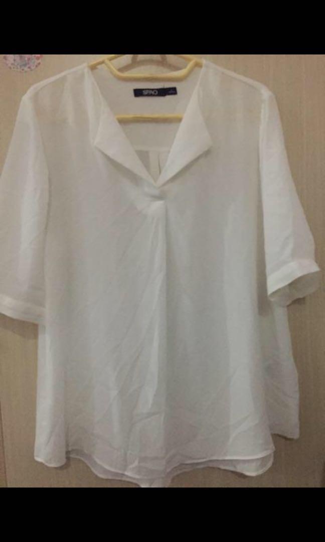Blouse putih SPAO kemeja putih