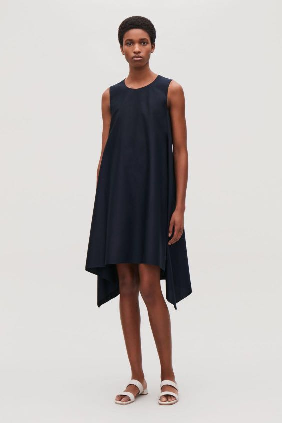 ee41244552f7c BNWT COS Layered Drape Dress Navy XS 32, Women's Fashion, Clothes, Dresses  & Skirts on Carousell