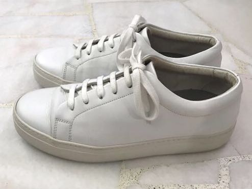 COS Thick-Soled White Leather Sneaker
