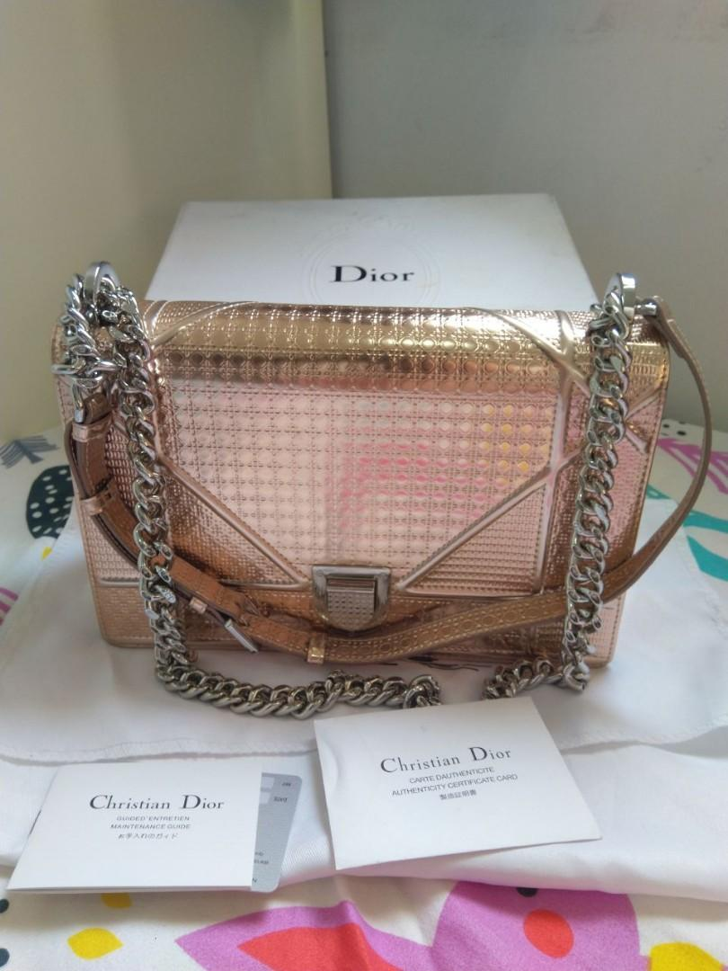 Dior diorama rose gold