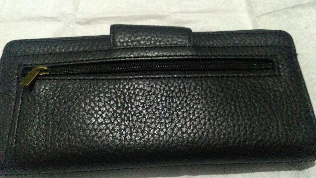 Dompet fossil madison clutch black original
