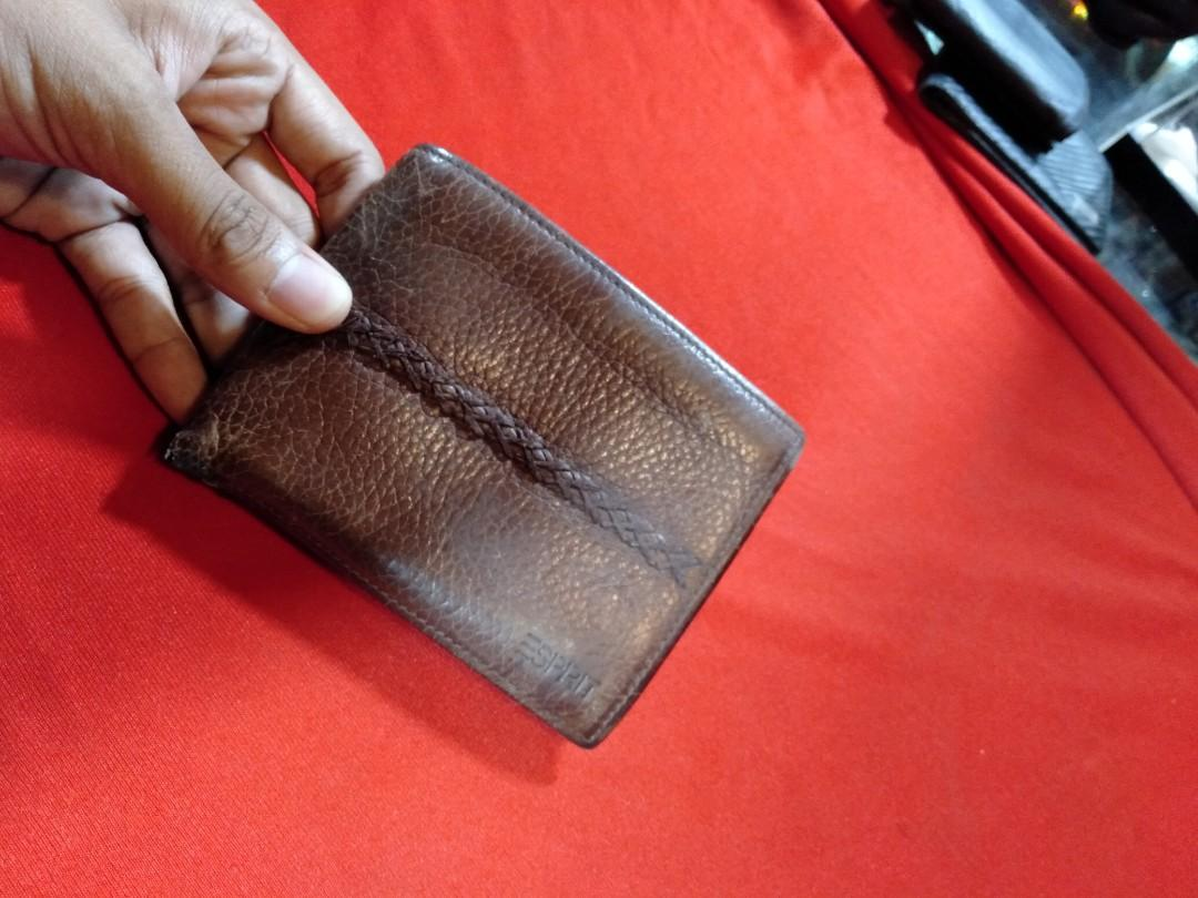 Dompet kulit merk Esprit for man original second