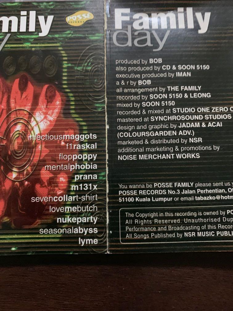 Family Day Compilation Flop Poppy Lyme Love Me Butch Infectious Maggots