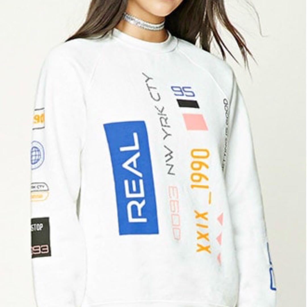Fleece Real Graphic Sweatshirt Crewneck