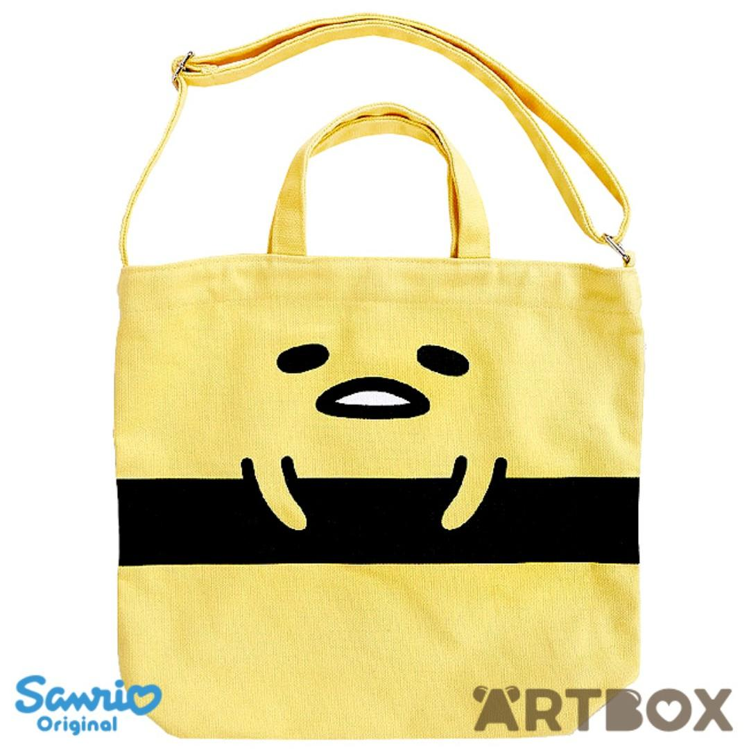 Gudetama Sushi Yellow Canvas 2-Way Tote Bag Sanrio