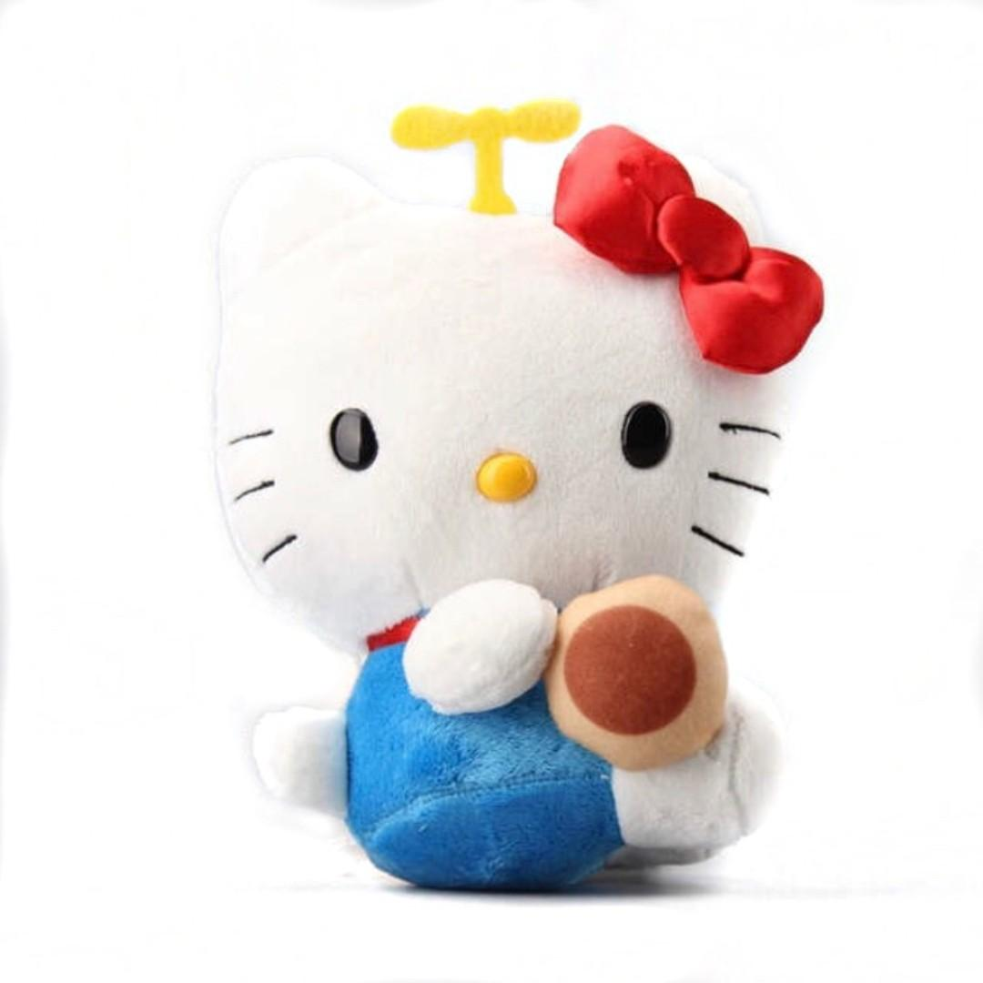 Hello Kitty X Doraemon 2PCS Plush Toys Rare Collectables