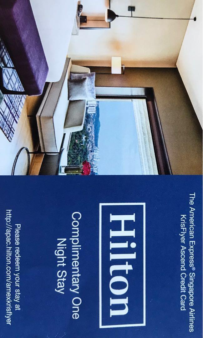 Hilton hotel one night stay