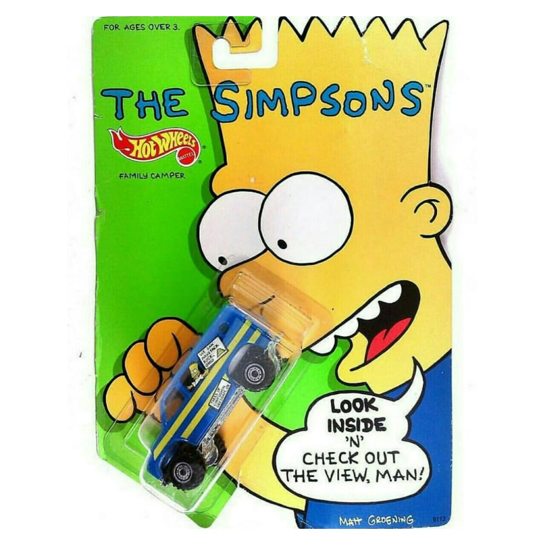 Hotwheels The Simpsons: Bart Family Camper Silver Rims