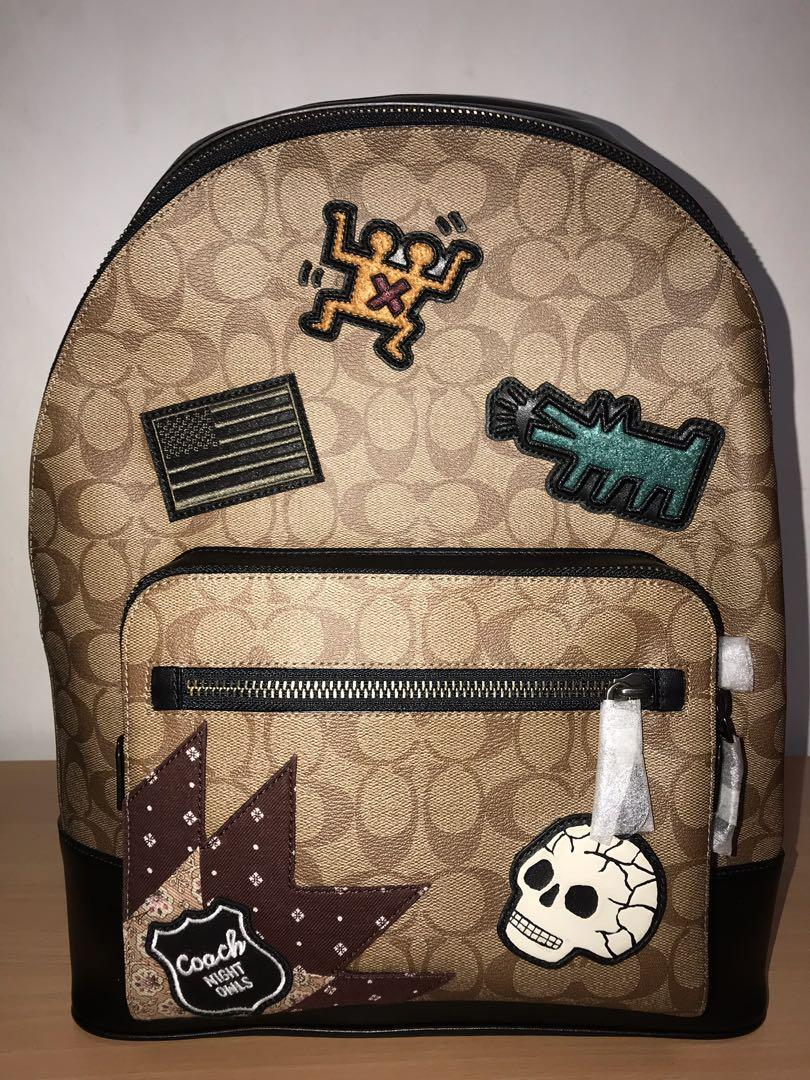 KEITH HARING WEST BACKPACK   SIGNATURE CANVAS WITH PATCHES (LIMITED EDITION)