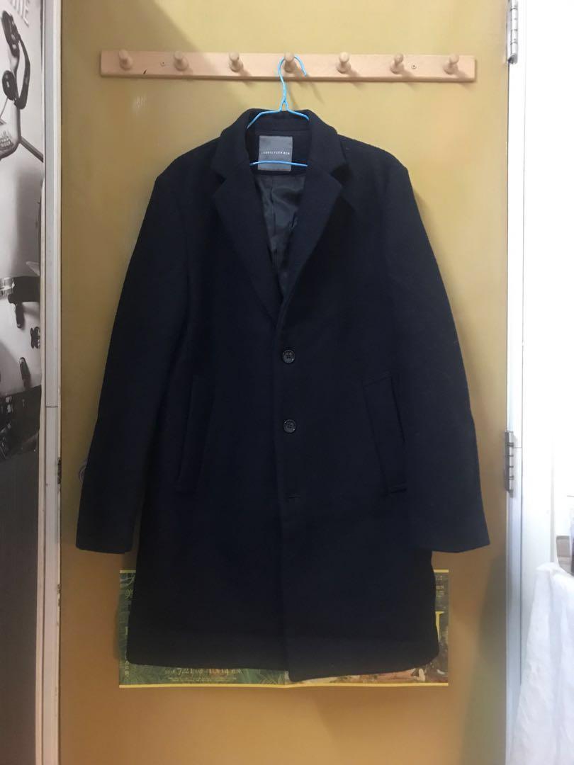 LOWRYS FARM MEN Winter Wool Coat in Dark Navy Blue