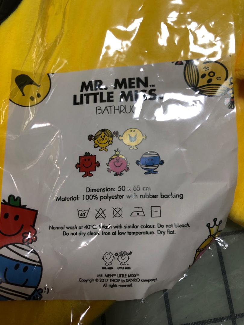 Mr Men Little Miss Bathrug Floor Mat