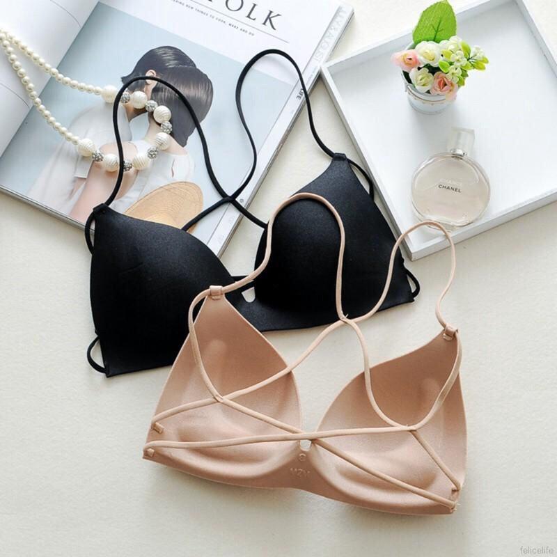 Multi-strap pushed up bra