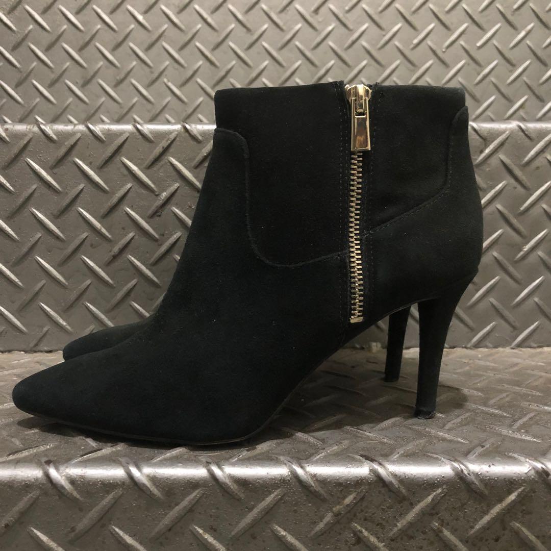 ❤️NINE WEST 麂皮鞋跟高跟鞋 38號「自有」