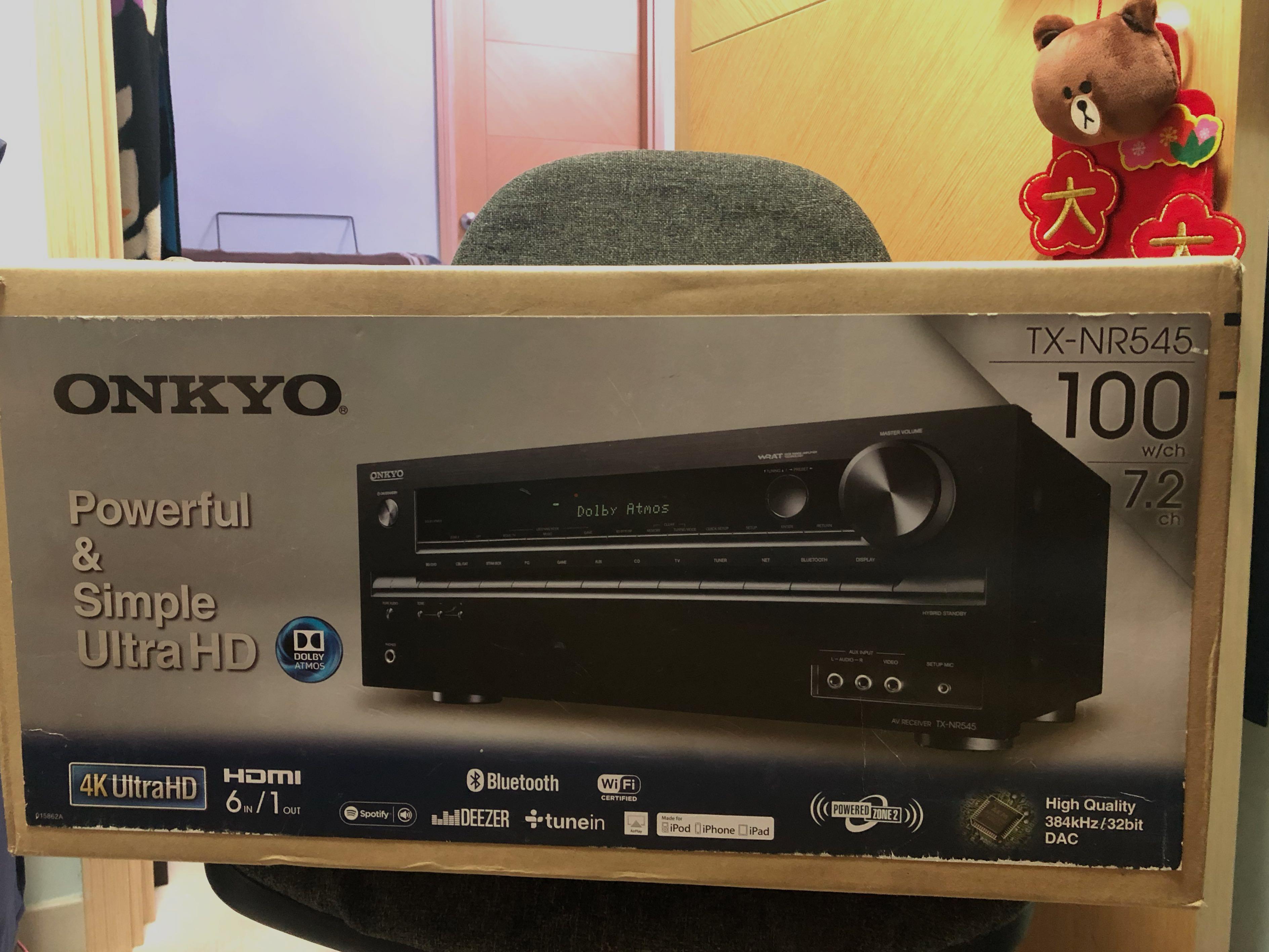100%全新 未開箱ONKYO 安橋 TX-NR545  7.2聲道網絡家庭影音擴音機 7.2 AV Receiver