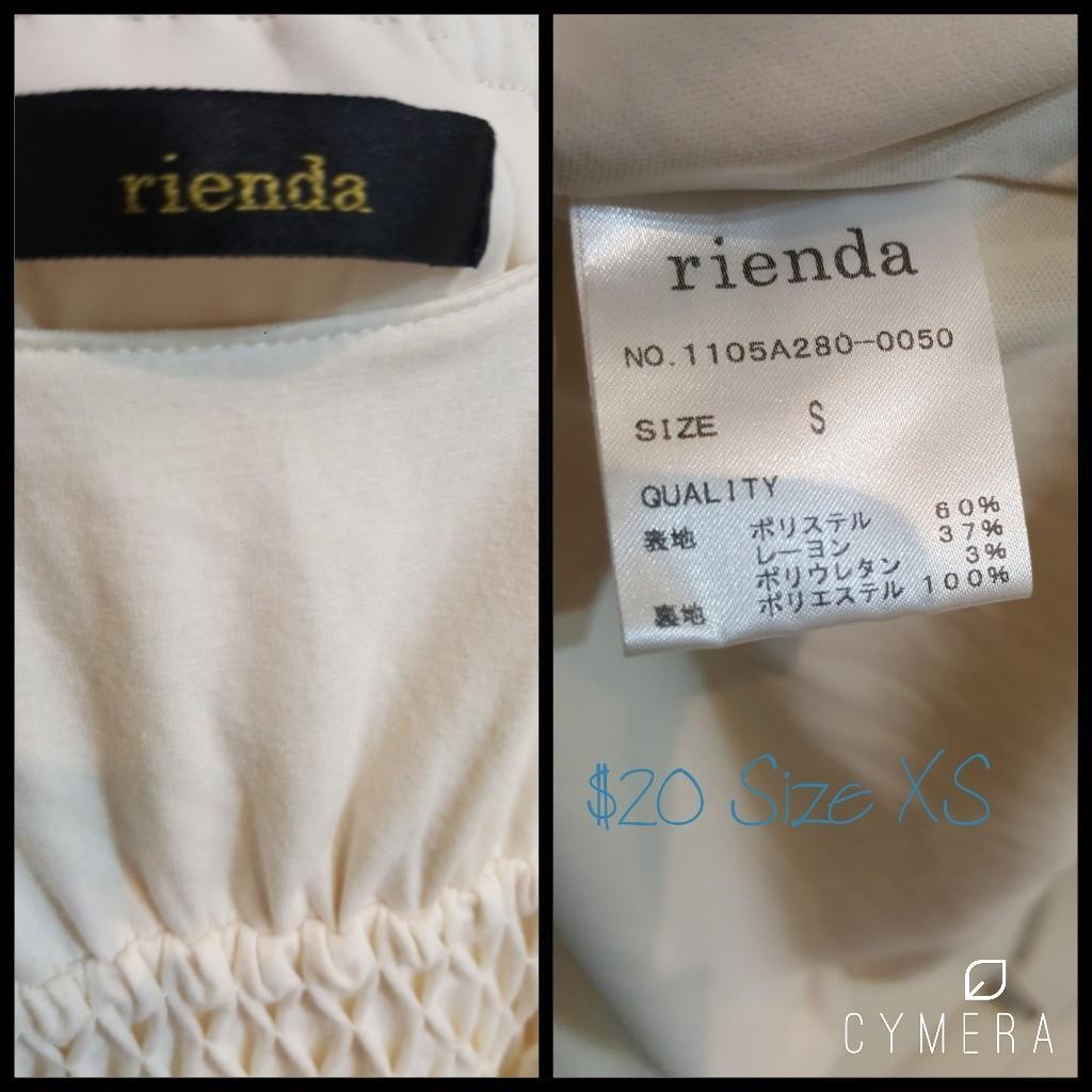 """Rienda"" Japanese Brand Ivory Short Above the Knee Dress (Size XS)"