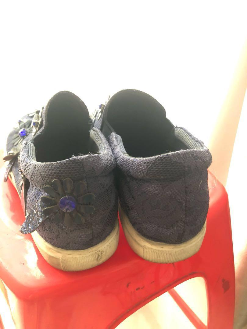 Rotelli Navy Blue Slip On Shoes